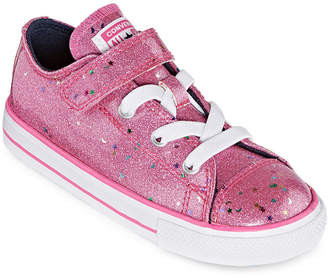 Converse 1v Ox Galaxy Glimmer Toddler Girls Hook and Loop Sneakers