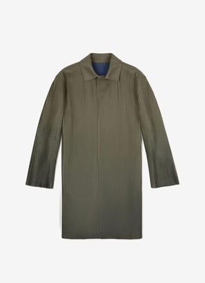 Bally Pleated Trench Coat