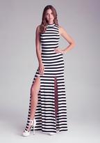 Bebe Side Slit Maxi Dress