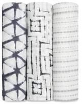 Aden Anais aden + anais® 3-Pack Shibori Muslin Swaddle Blanket Set in Pebble