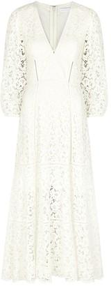 Jonathan Simkhai Lara White Guipure Lace Midi Dress