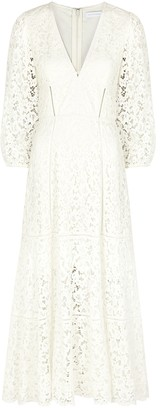 Jonathan Simkhai Lara white guipure lace midi dress