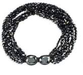 Kenneth Jay Lane Faceted Jet Bead Multi-Row Necklace