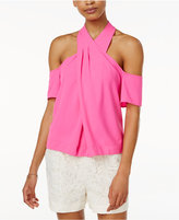 Rachel Roy Cold-Shoulder Halter Top, Created for Macy's
