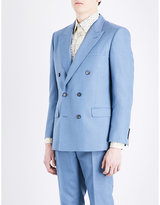 Alexander Mcqueen Double-breasted Mohair And Silk-blend Jacket