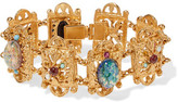 Ben-Amun Gold-Plated Stone And Crystal Bracelet