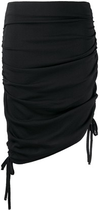 Laneus Ruched Detail Skirt