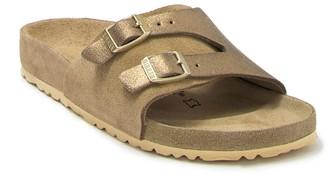 Birkenstock Vaduz Metallic Leather Slide Sandal - Discontinued
