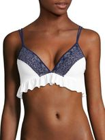 Jonathan Simkhai Ruffled Bikini Top