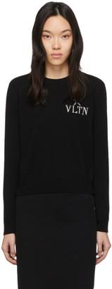 Valentino Black VLTN Star Crewneck Sweater