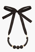 Marni black Horn and ribbon Necklace