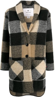 Woolrich Check Pattern Cardi-Coat
