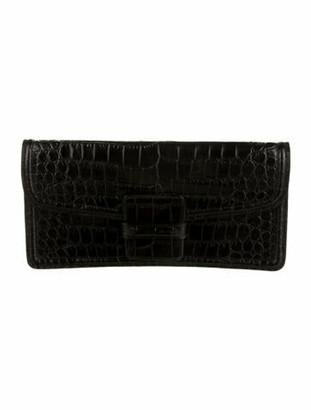Dries Van Noten Embossed Leather Clutch Black
