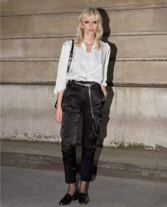 The Kooples Black slim-fit trousers with zipped pockets