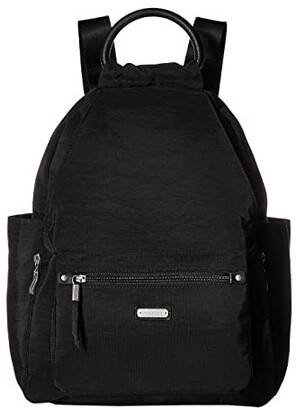 Baggallini New Classic Heritage All Day Backpack with RFID Phone Wristlet (Black) Backpack Bags