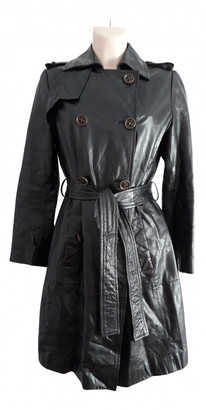 Zara Black Leather Trench coats