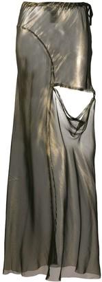 Ann Demeulemeester Cut-Out Detail Maxi Skirt