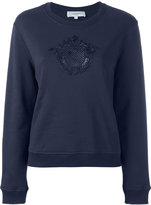 Carven embroidered motif sweatshirt - women - Cotton - M
