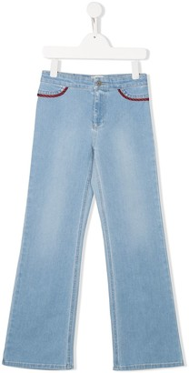 Gucci Kids Piped Straight-Leg Jeans