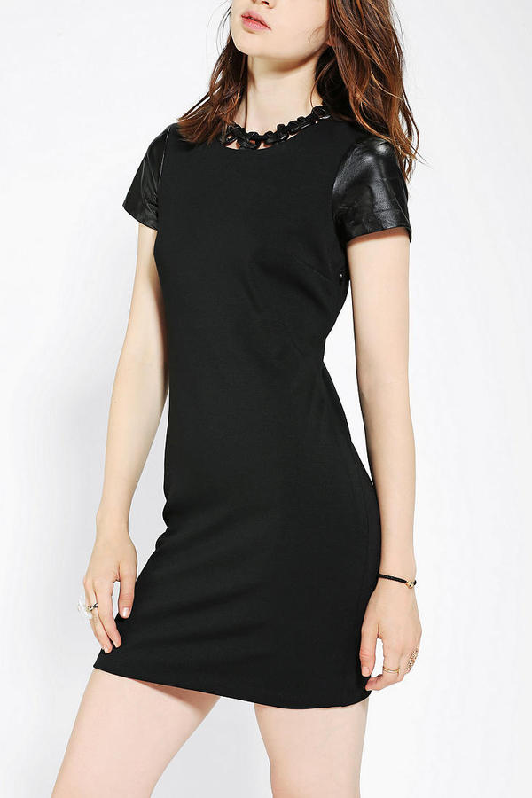 Urban Outfitters Elliatt Leather Chain Bodycon Dress