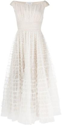 Giambattista Valli Tulle Overlay Midi Dress