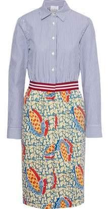 Stella Jean Printed Cotton-blend Poplin Shirt Dress