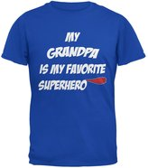 Old Glory Grandpa is My Superhero Royal Adult T-Shirt