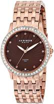 Akribos XXIV Women's AK620RG Lady Diamond Swiss Quartz Diamond and Crystal Rose-tone Stainless Steel Bracelet Watch