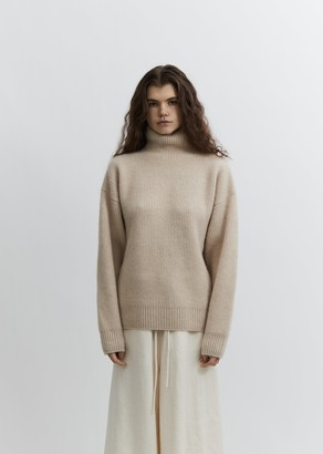Seya. Double Rib Cashmere Turtleneck Sweater