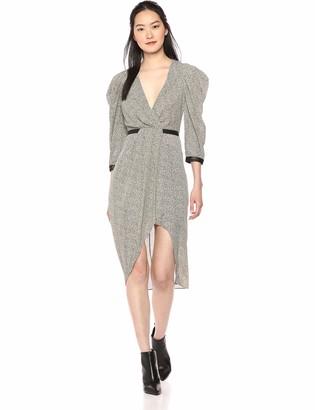 BCBGMAXAZRIA Azria Women's Faux Wrap Leopard Print Dress