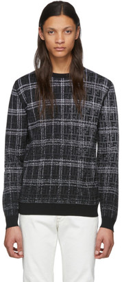 Fendi Black and Grey Wool Forever Sweater