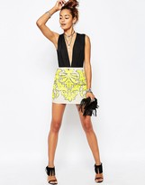 Missguided Sequin Embellished Mini Skirt