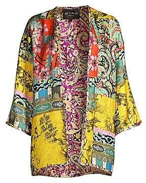 Etro Women's Reversible Silk Patchwork Kimono