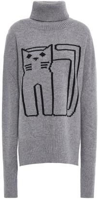 Markus Lupfer Intarsia Wool Turtleneck Sweater