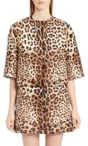 Dolce & Gabbana Embellished Leopard Print Mikado Jacket