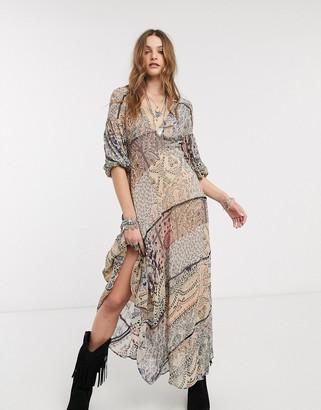 Free People moroccan dream printed maxi dress