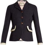 Gucci Geometric-pattern wool jacket