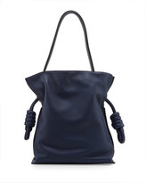 Loewe Flamenco Small Knot Bucket Bag, Navy