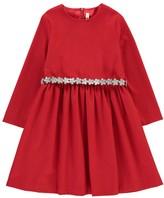 Il Gufo Dress with Flower Belt Red