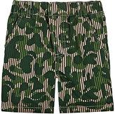Stella McCartney Striped Camouflage Cotton Shorts