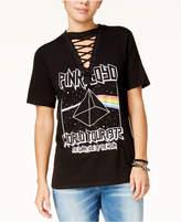 Freeze 24-7 7 7 Juniors' Pink Floyd Lace-Up T-Shirt