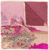 Valentino Garavani Garden Of Earthly Delights scarf - women - Cashmere/Modal - One Size