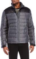 Versace Faux Leather Yoke Down Jacket