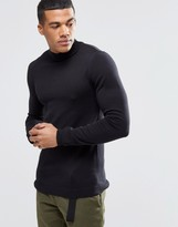 Asos Muscle Fit Turtle Neck Jumper In Cotton