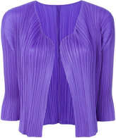 Pleats Please By Issey Miyake pleated short cardigan