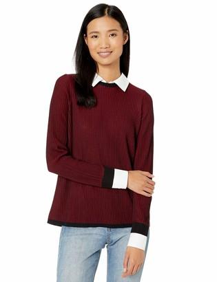 Foxcroft Women's Dakota Ribbed 2-fer Sweater