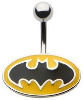 Batman Women's DC Comics® Classic Logo Stainless Steel 14 Gauge Navel Jewelry