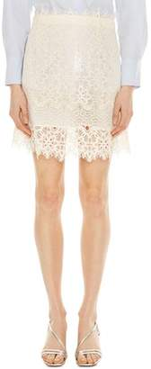 Sandro Filipine Lace Mini Skirt
