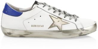 Golden Goose Men's Gold Sparkle Superstar Sneakers