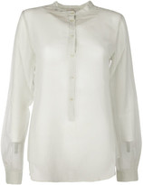 Forte Forte Band Collar Buttoned Shirt